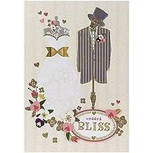 """Hallmark, biglietto di auguri per matrimonio, con scritta """"Love In Your Hearts"""", formato medio, Gold, Medium"""