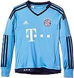 adidas Jungen Fußballtrikot FC Bayern München Replica Heim Torwart, Lucky Blue, 176