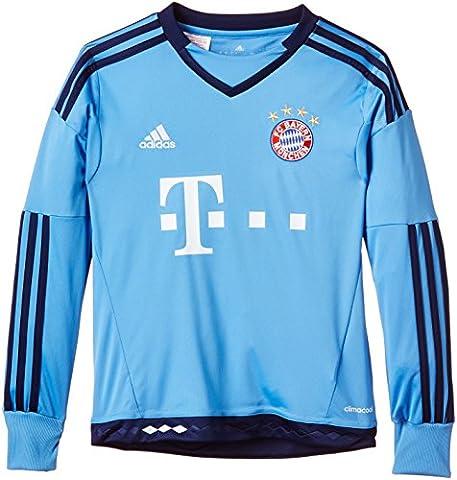 adidas Jungen Fußballtrikot FC Bayern München Replica Heim Torwart, Lucky Blue/Blue, 176, S08658 (Fc Bayern München Trikot 2015)