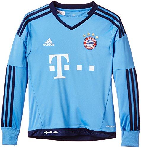 adidas Jungen Fußballtrikot FC Bayern München Replica Heim Torwart Lucky Blue, 176