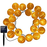 Solar Powered Lantern String Lights, 30 LED Starry Globe Light for Gardens Home Dancing Party, Indoor Outdoor Waterproof Solar Decoration Lighting(Warm White)