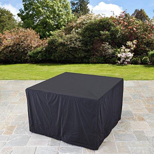 Rattan Cube Garden Furniture Set 8 seater outdoor wicker 9pcs (Black)