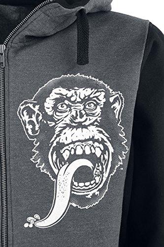 Gas Monkey Garage Texas Varsity Kapuzenjacke dunkelgrau meliert Dunkelgrau Meliert