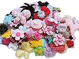 yycraft Craft Mix Bulk 60pcs Blumen Schleifen Craft Hochzeit Ornament Applikationen