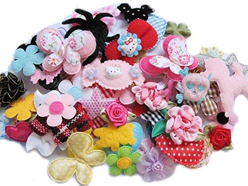 lk 60pcs Blumen Schleifen Craft Hochzeit Ornament Applikationen (Bulk-ornamente)