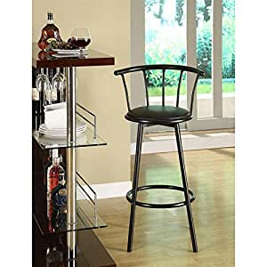 tabouret de bar bistrot noir avec assise pivotante cuisine maison. Black Bedroom Furniture Sets. Home Design Ideas