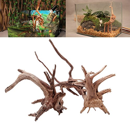 GUBENM Aquarium Deko Höhle, Aquarium Dekoration Aqua Ornaments, Baum Aquarium Fisch Flasche Holz hölzern Natur Trunk Pflanzen Stümpfe Ornament X-SMALL (Trunks Fisch)