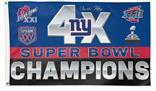 Fünf Star Flaggen New New York Giants Flagge, Giants Flagge, Flagge für Den Innen- und Außenbereich Geeignet, 100% Polyester, 3X 5Fuß.