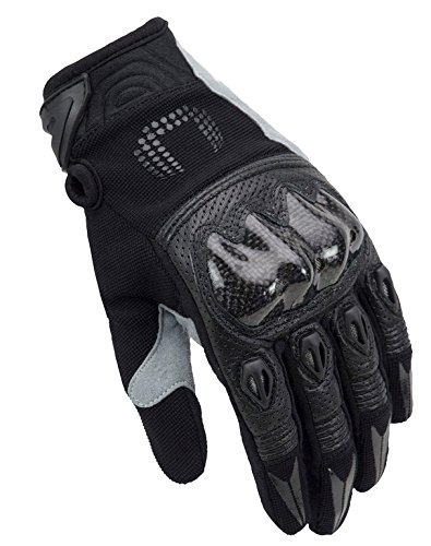 Handschuhe Sommer-Unik x-4Wirkungsgrad schwarz mit Carbon-Protektoren XL Schwarz (Wirkungsgrad)