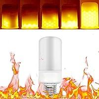 Tomshine LED E27 Burning Light Flicker Flame Lampadina Fire Effetto Lampadine Lampada Decorativa a Risparmio Energetico Ecologico,3 Modalità di Illuminazione,Decorazione di Interni,Festival Decor