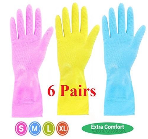 6 Pairs Blue Strong Household Ru...