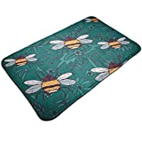 Doormat Entrance Floor rug Cool Insect Funny Pattern Indoor Mat Non-Slip Flannel for Bedroom Bathroom Living Room Kitchen Home Decorative 80x50CM