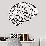 lsweia Cervello Mente Qualsiasi Intelletto Scienza Medicina Medico Vinile Adesivo Home Decor Art Murale Adesivi Rimovibili 57 * 47cm