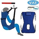 Sling toilette Sollevatore paziente Attrezzatura medica per ascensore Handicapp bariatrico Comodo ascensore Imbracatura Cintura medica di trasferimento (blu)