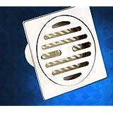 Kompakte Badezimmer im europäischen Stil, Bodenablauf, Edelstahl dicke Geruch beständig Bodenablauf Bodenablauf quadratisch, Dusche