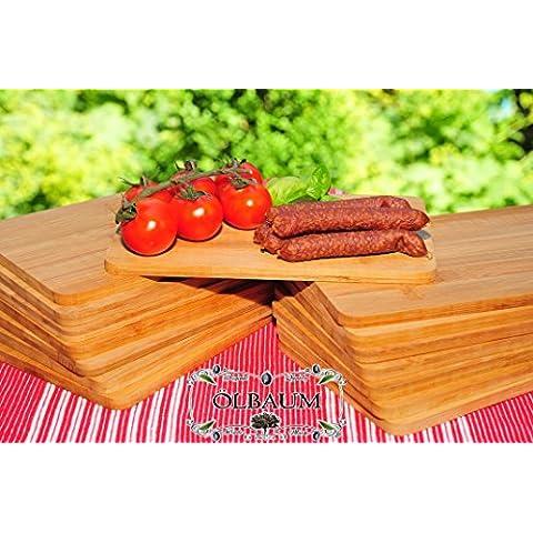 SERVIER–e grill–Bruschetta, 36x in bambù–Massive, per ca. 8mm forte legno di alta qualità e grill–Frühstücksbrett tradizionale naturale, dimensioni quadrata ca. 22cm x 14cm come servi-formaggio Bruschetta, e di Brett, pane tempo per barbecue e grill- e grill tagliere, Bayerisches pane tempo brettl con manico in legno, nuovo massive per taglio e di taglieri, bistecca piatto prosciutto per barbecue e grill da BRETT rustico, prosciutto piatto di BTV, pane tempo piatto Bayern, Wild tagliere da e per barbecue, Wildbret ÖLBAUM