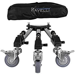 Ravelli ATD Dolly Chariot Support à Roulette Universel pour Trépied