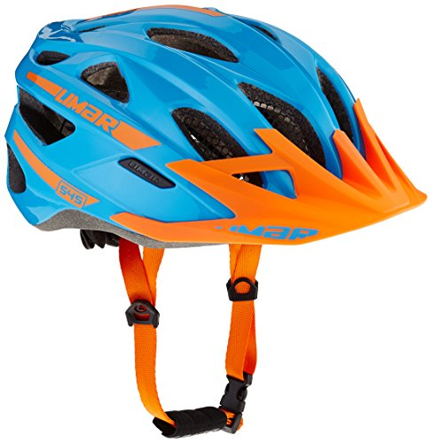 Limar Fahrradhelm 545 MTB Sport Action Radhelm, Blue Orange, L