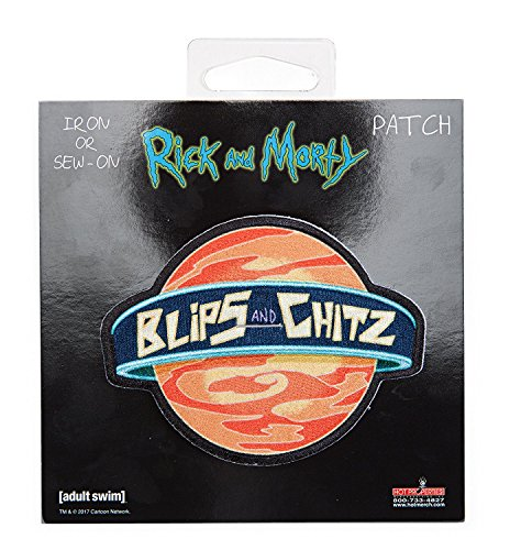 Rick and Morty - Blips and Chitz, Officially Licensed Artwork - Embroi