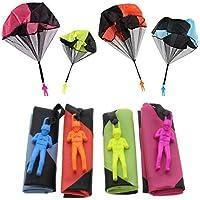 Sparta's Store Juguete Paracaídas set, incluyendo,4 × Mano que lanza el juguete del paracaidista. Muy buenos juguetes al aire libre para niños. ¡Se puede regalar a los niños! ¡Dale más felicidad a tu hijo! !