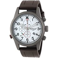 Momentum Titan III Men's Quartz Watch with White Dial Analogue Display and Brown Rubber Strap 1M-SP32W1C