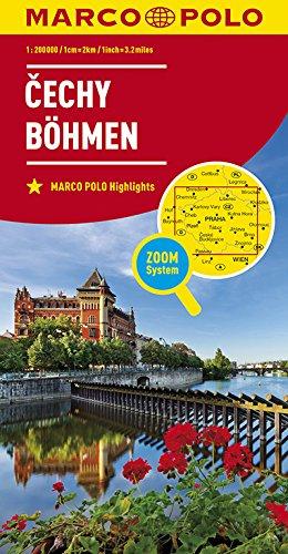 MARCO POLO Karte Tschechien Blatt 1 Böhmen  1:200 000: Wegenkaart 1:200 000 (MARCO POLO Karten 1:200.000) -