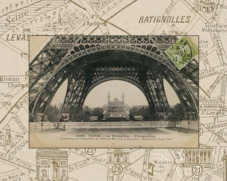 Destination Paris I von Wild Apple Portfolio–Fine Art Print erhältlich auf Leinwand und Papier, canvas, SMALL (10 x 8 Inches )