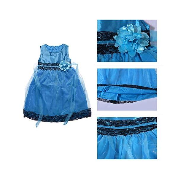 Yilaku Vestido Vintage Estampado de Niñas Años para Fiesta Cóctel Vestido Algodón de Verano sin Mangas 4