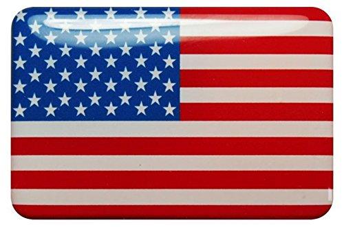 Preisvergleich Produktbild 3D Kfz-Aufkleber Sticker 12 x 8 cm (gedomt) Flagge USA (RX120)