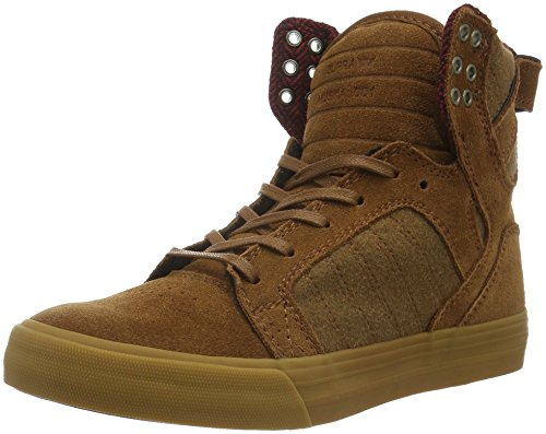 Supra Herren Skytop High-Top, Braun (Brown/Red-Gum 239), 40.5 EU (Chad Muska Supra)