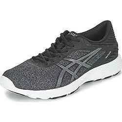 Asics Mens Black, Carbon and White Running Shoes - 8 UK/India (42.5 EU)(9 US)