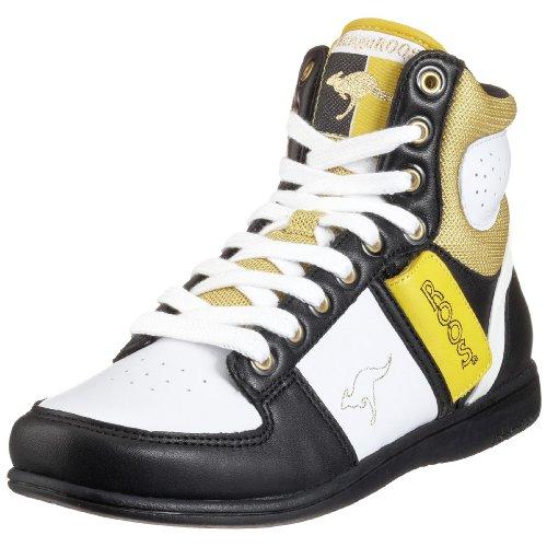 KangaROOS Swish-Hi-Multi 31220, Damen Sportschuhe - Basketball, schwarz / hell, (wht/blk/lemon 057), EU 39