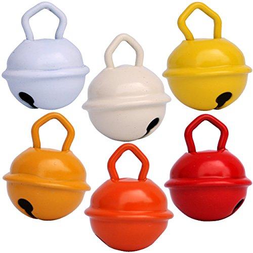 Glöckchen: 6Glöckchen, 15mm: Schneeweiß + Elfenbeinfarben + Gelb + Goldgelb + Orange + Rot Schöner Klang + rostfreie Glöckchen + verfügbar in 16 Farben mit 15mm, 24mm und 35mm für: Montessori, kreatives Basteln mit Kindern, Kuscheltiere für Babys, Schwangerschaftsglöckchen, Geburtstags- und Weihnachtsdeko