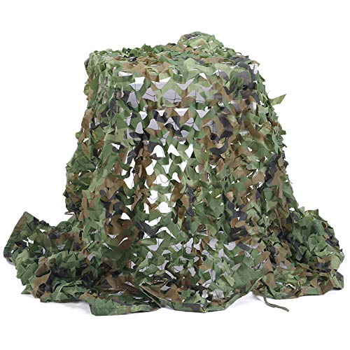 Camouflage Netz, Armee Tarnnetz Woodland 2M x 6M Tarnung Net für Sonnenschutz Jagd Waldlandschaft...