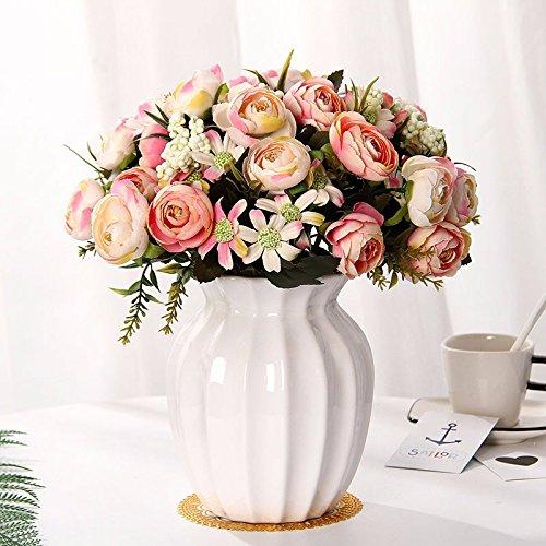 Emulation Blume Suite Wohnzimmer mit künstlichen Blumen geschmückt Sway im Kunststoff getrocknete Blume Esstisch ausgestattet mit Töpfen Blume, z