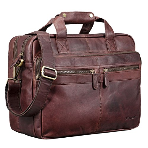 b8db53a75491 STILORD  Explorer  Teacher s Bag Men Women Business Bag Leather Satchel  Briefcase College Bag Shoulder