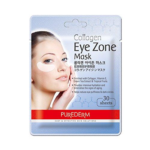 Purederm Augenpads mit Collagen (30 Stück) - Augenpflege - Augenserum - Anti Falten Augenränder - Kühlende Augenpads gegen (Pad Frauen Kostüm)