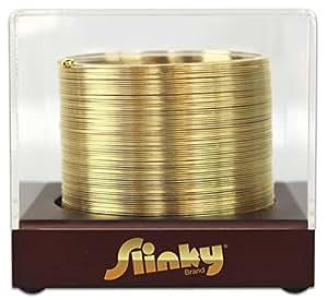 POOF-Slinky 1205 14-Karat Gold Plated Original Slinky with Wooden Display Box