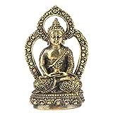 Handgemachte geschnitzte Antiken kleine Buddha-Messingstatue<br/><br/>(Sakyamuni)