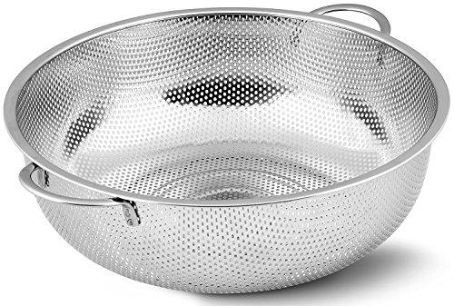 rykey Edelstahl Sieb–mikroperforierten Teesieb, Edelstahl Küche Sieb mit feinem Mesh 28,5cm breit silber
