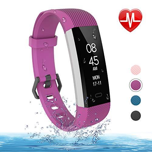 Fitness Armband Uhr,mit Pulsmesser Blutdruckmessung Fitness Uhr Wasserdicht Fitness Tracker mit Pulsuhren Aktivitätstracker Schlafmonitor Schrittzähler Kalorienzähler Smart Armband Uhr Herren Damen