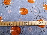 Glünz 0,5m Jersey schlafender Fuchs/grau / Kinderstoff / 16,50€/m