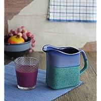 Store Indya, Gettato a mano della rotella studio di ceramica verde e blu satinato brocca in ceramica