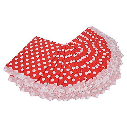 ßigkeiten Papier Süßigkeiten Partytüten Papiertüten Tütchen mit Punkten Tüten für Mitgebsel Party Taschen Süßigkeiten Buffet Papierbedarf Taschen für Hochzeit Kinder Geburtstag oder(Rot) (Halloween-süßigkeiten Diy)