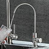 Wasserhahn 304 Edelstahl einzigen kalten geraden Trinkwasser Waschbecken Waschbecken Wasserfilter Wasserhahn