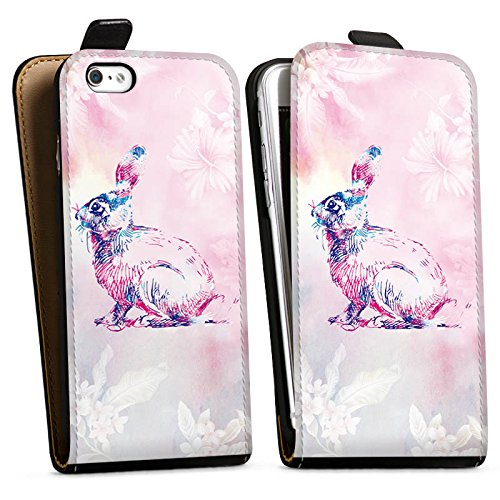 Apple iPhone X Silikon Hülle Case Schutzhülle Hase Häschen Bunny Downflip Tasche schwarz