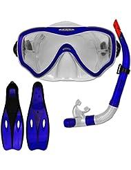 Tauchset Dunlop mit Farb- und Größenauswahl - Schnorchel Set - Tauchermaske - Schnorchel - Schwimmflossen