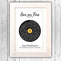 Personalised Song Lyrics Print/First Dance gift/Wedding gift/Anniversary present/Valentines day gift VA098