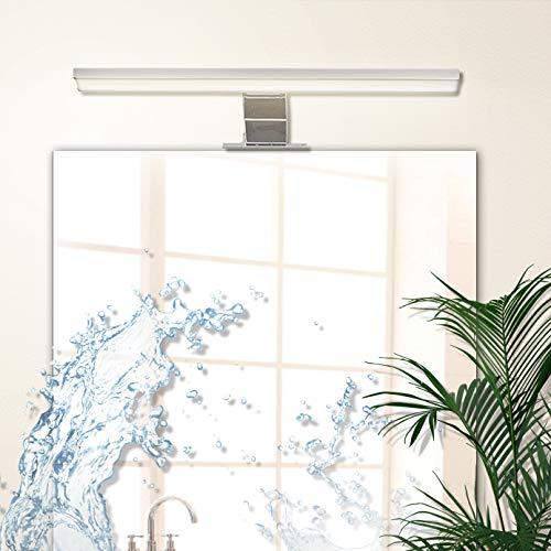 Lampadaspecchio bagno led wowatt lampada bagno parete 40cm 6w 510lm luce bianca calda 2800k impermeabile ip44 applique in alluminio non dimmerabile
