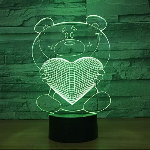 Liebe 3D Führte Nachtlicht-Buntes Stab-Schlafzimmer-Dekorations-Befestigungen-Geburtstags-Feriengeschenk Für Kinderzimmer-Lichter